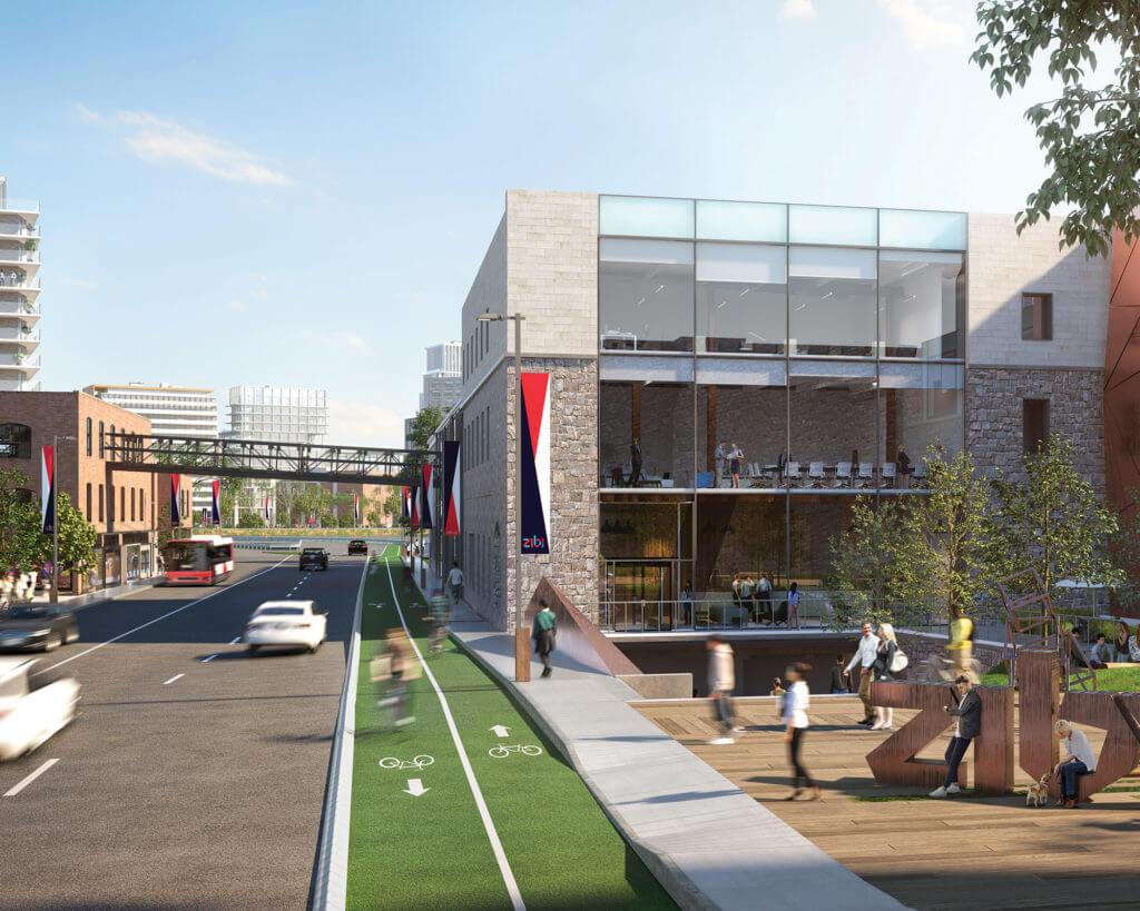 Street view rendering of building