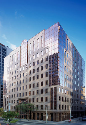 Bright image of Dream Office's 720 Bay Street building.