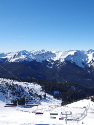Two mountains in Arapahoe Basin, Colorado