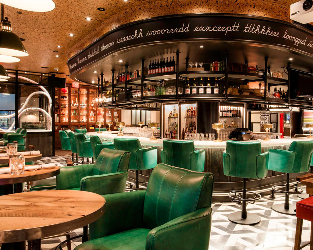View of inside of Drake 150 bar at Adelaide Place