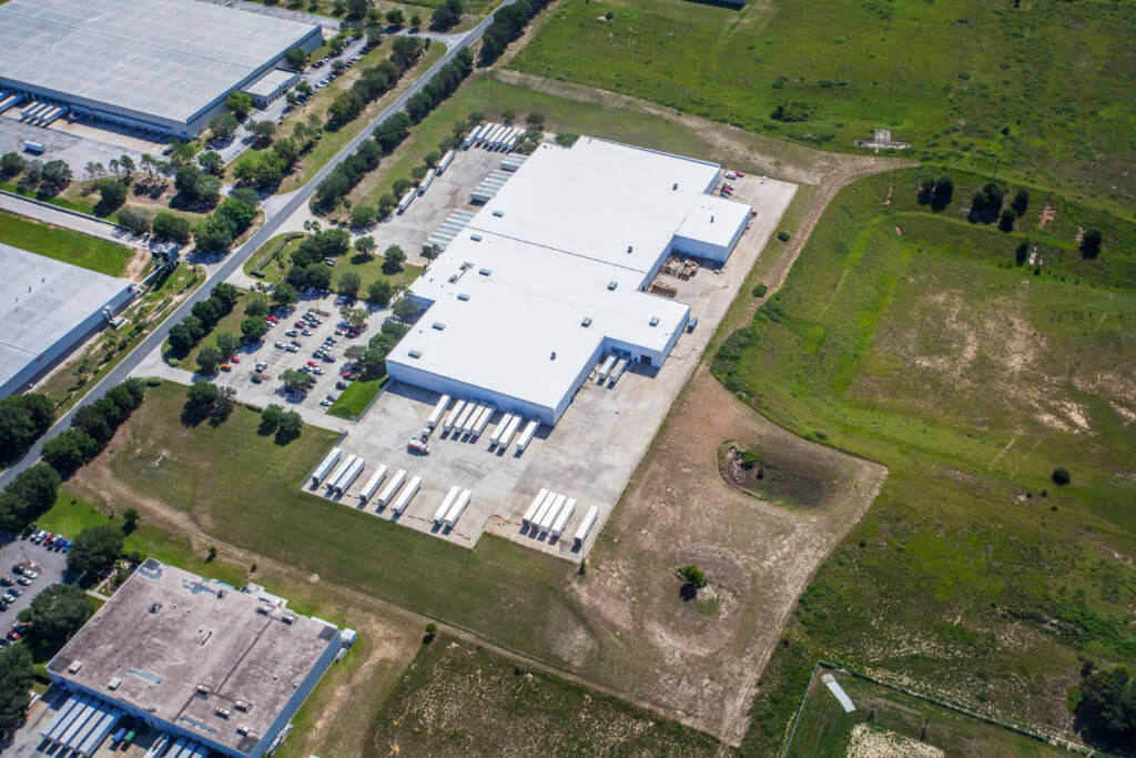 Aerial image of Dream Industrial Warehouse Building in Orlando Florida
