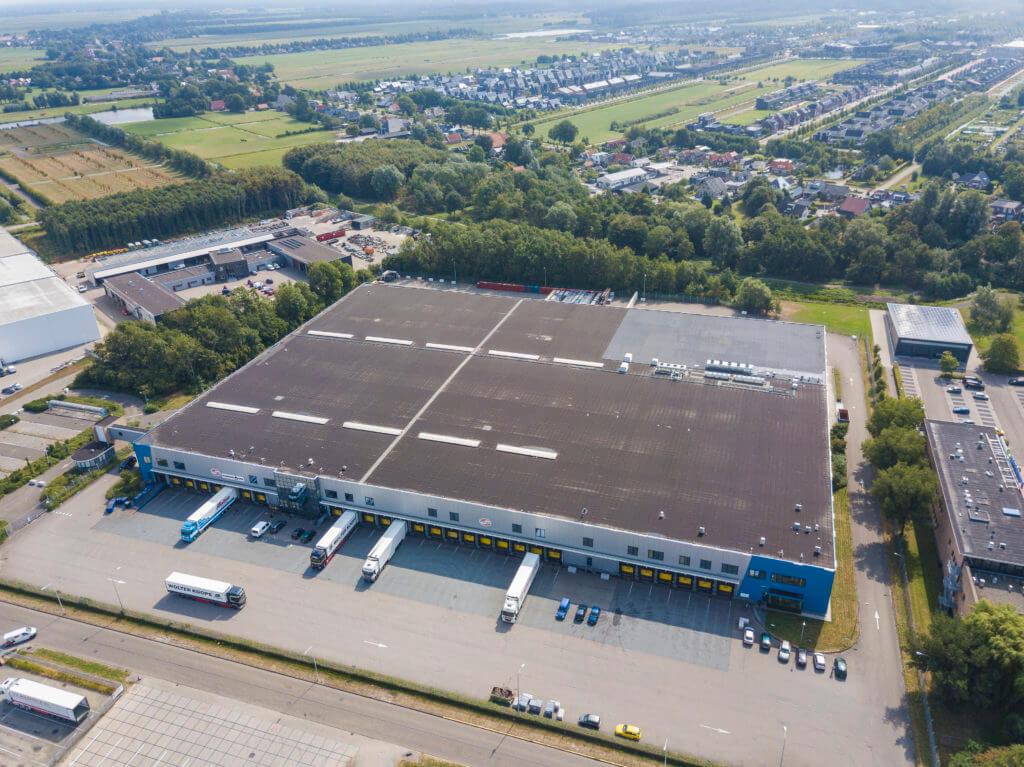 Aerial image of Dream Industrial Warehouse Building in Heerenveen