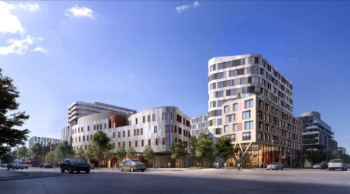 Rendering of Dream's Indigenous Hub located in the Canary District, Toronto, ON