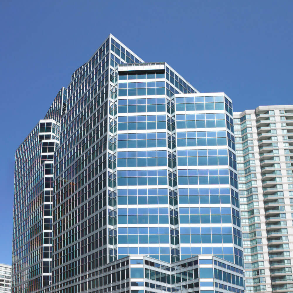 Building with Blue Sky in Downtown Toronto